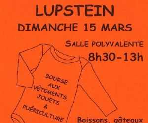 Bourse aux vêtements, jouets et matériel de puériculture à Lupstein 2020