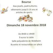 Bourse aux jouets, puériculture et articles de sports à Wolxheim 2018