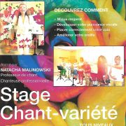 Stage de chant-variété, pop-rock, jazz-blues