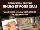 Soirée dégustation : accord Rhum et Foie gras