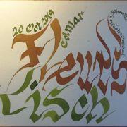 Découverte de la calligraphie médiévale - Les plumes de Ribeauvillé
