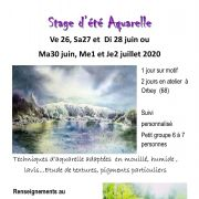 Stage aquarelle avec Marie Therese Klein