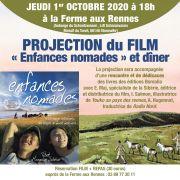 Projection du Film Enfances Nomades et diner