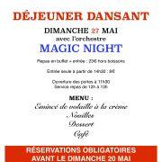Déjeuner dansant avec Magic night