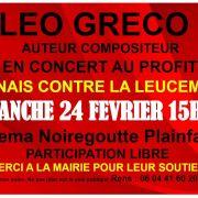 Léo Gréco - Concert de soutien Anaïs contre la leucémie
