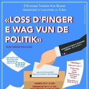 Loss d\'Finger e wag vun de Politik