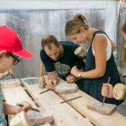 Atelier adultes et enfants : Taille de pierre
