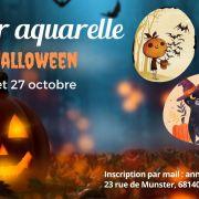 Atelier Aquarelle sur le thème Halloween avec Anne Werey à la Maison du fromage