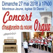 Concert d\'inauguration du nouvel orgue