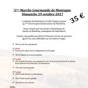 3e Marche gourmande de montagne au Markstein