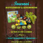 Tournoi Kingdomino et Battlesheep
