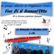 Concert de la solidarité interntionale : Voce Di U Sessant'ottu