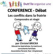 Conférence débat : les conflits dans la fratrie
