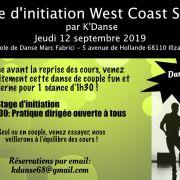 Stage initiation West Coast Swing