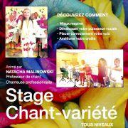 Stage de chant-variété