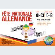 Fêtes nationales franco-allemande au parc d\'attractions FUNNY-WORLD
