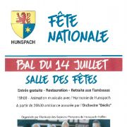 Fête Nationale 2018 à Hunspach