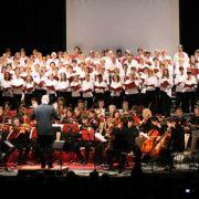 Les musiciens du chœur chantent Noël