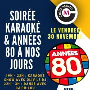 Karaoke puis danse années 80 à nos jours