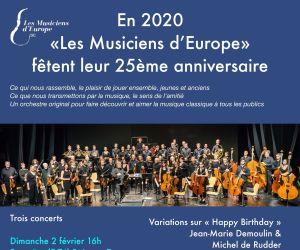Concert du 25ème anniversaire des Musiciens d\'Europe