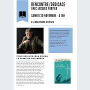 Rencontre/dédicace avec Jacques Fortier