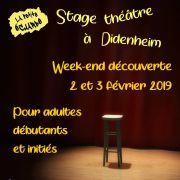 Stage week-end découverte théâtre pour adultes à La Petite Echarde de Didenheim