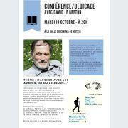Conférence/dédicace avec David Le Breton