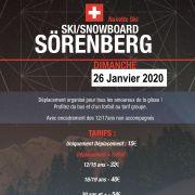 Sortie à Soerenberg - Skieurs et Snowboarders