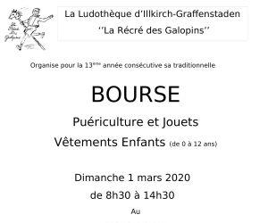 Bourse puériculture et jouets, vêtements enfants à Illkirch-Graffenstaden 2020