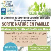 Sortie Nature en Famille : Château de Ferrette et Grotte des Nains