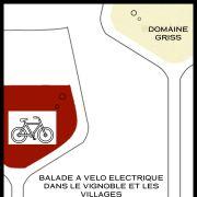 Balade à vélo électrique dans le vignoble et les villages