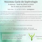 Sophrologie : nouveau cycle de 8 séances
