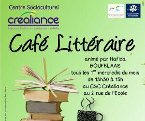 Café littéraire au CSC Créaliance