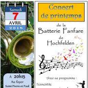 Concert de printemps de la Batterie Fanfare de Hochfelden