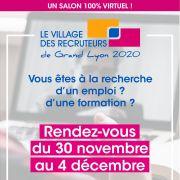 Le Village des Recruteurs de Grand Lyon 2020 100% virtuel !