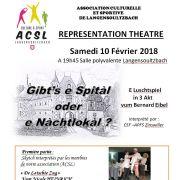 Représentation de théâtre alsacien