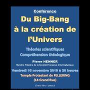 Du Big Bang à la création de l\'univers