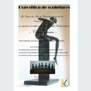 Exposition de sculptures à la vitrine des arts