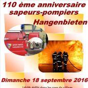 110ème anniversaire pompiers de Hangenbieten
