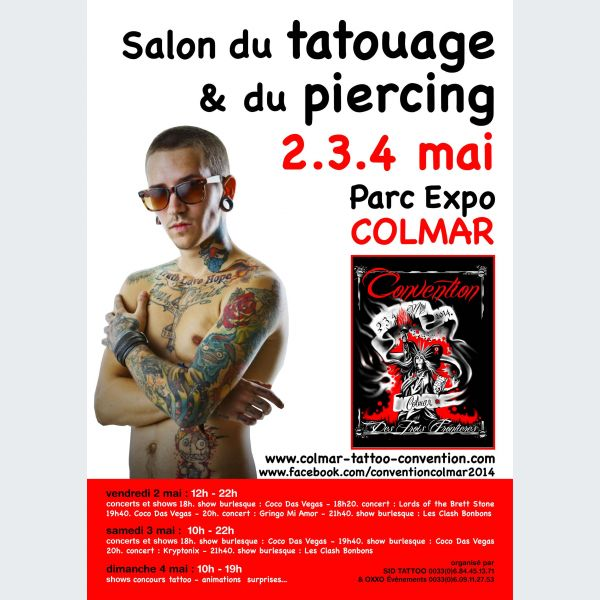 Salon du tatouage et du piercing colmar parc expo for Salon du tattoo nice