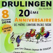 20ème anniversaire des Maîtres Chanteurs d\'Alsace Bossue