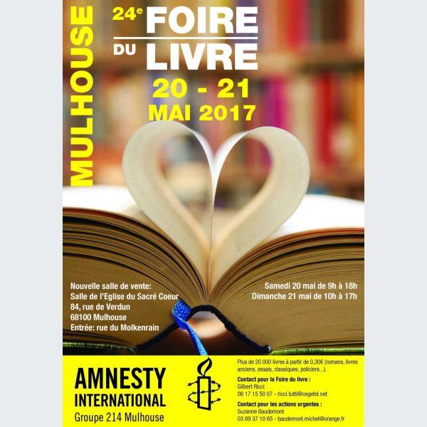 Assez Foire aux livres d'Amnesty International à Mulhouse ET36