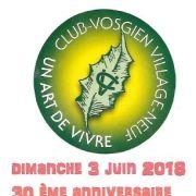 30ème anniversaire du Club Vosgien Village-Neuf