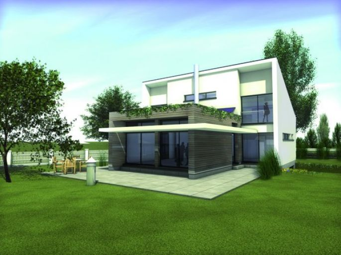 Une maison de demain : économique et performante tant sur le plan énergétique que sur le plan écologique  (ici la maison Stéphane Berger qui respecte le label NF-HQE)