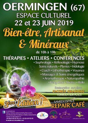 3ème Salon bien-être, minéraux et artisanat 2019 à Oermingen