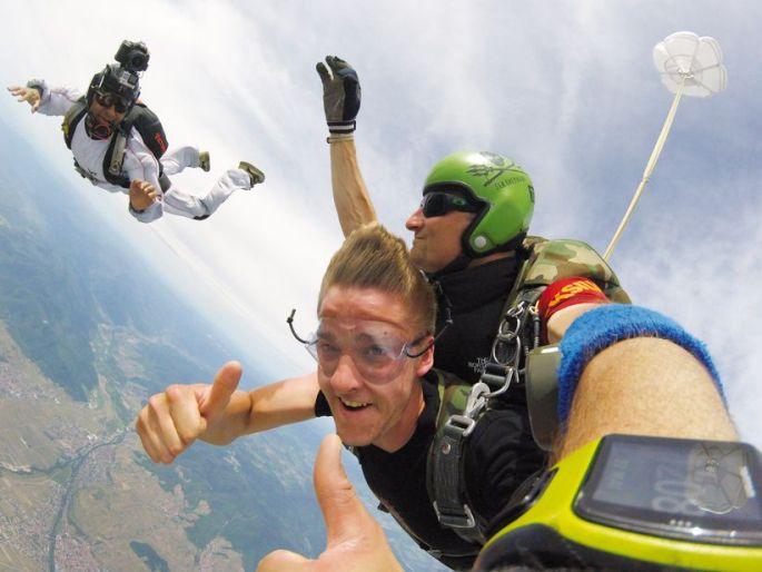 Saut à 4000m d\'altitude au-dessus de Colmar