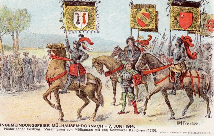 500e anniversaire du Traité de l\'Alliance entre Mulhouse et les 13 Cantons Suisses