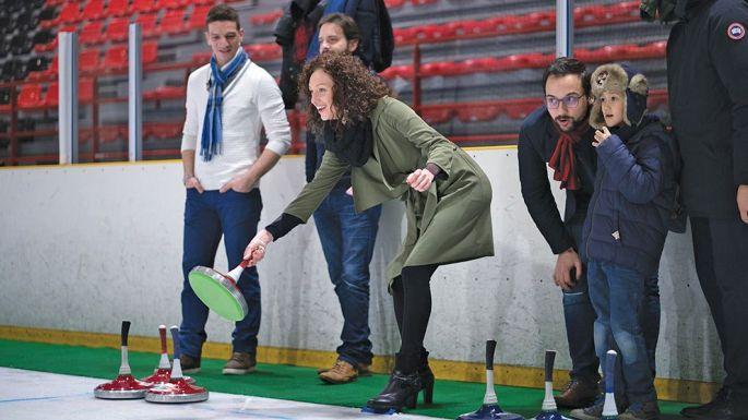 «La pétanque sur glace» se pratique en tenue de ville, sans patins