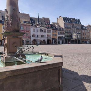 La place de la Réunion à Mulhouse