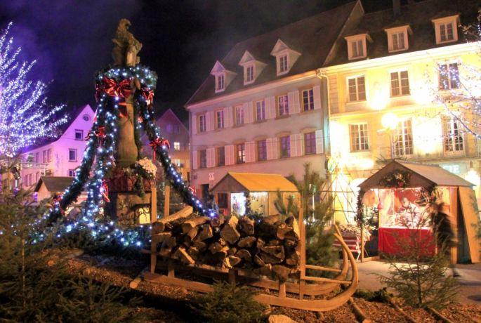 Noël à Munster avec marché de Noël traditionnel et illuminations féériques